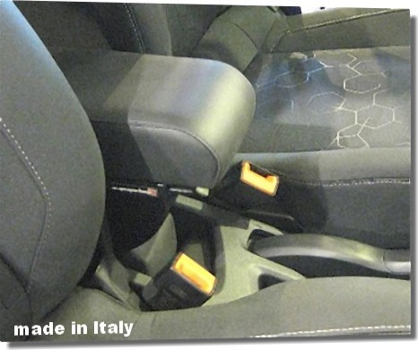 Adjustable armrest with storage for Ford B-Max