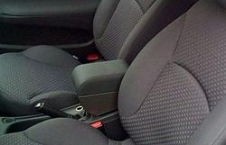 Bracciolo regolabile con portaoggetti per Fiat Stilo