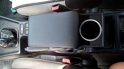 Bracciolo regolabile con portaoggetti per Fiat Coupé