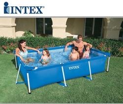 Piscina fuoriterra INTEX 28272 Frame rettangolare 300 x 200 x h 75 cm capacità 3834 lt  28272