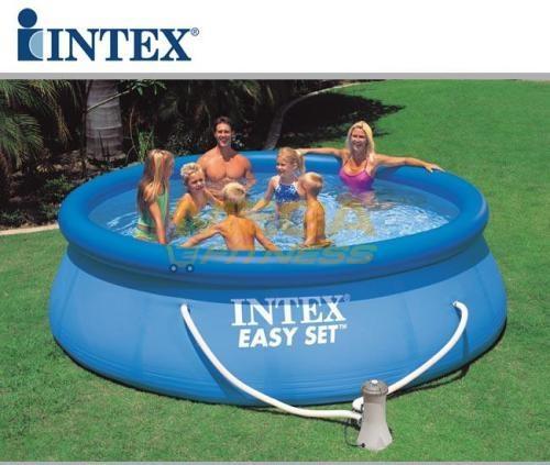 Piscina rotonda gonfiabile Easy Set cm 366x91 con pompa filtro INTEX 56932 / 28146