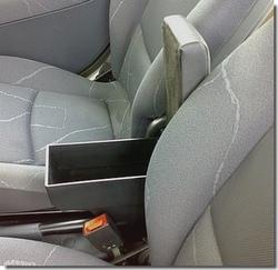 Bracciolo regolabile con portaoggetti per Nissan Pixo