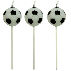 Set 4 candeline pallone calcio