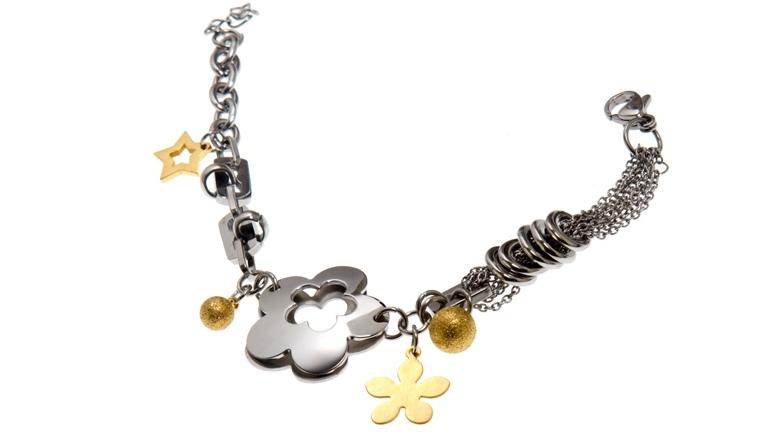 ST4255 Bracciale Donna in Acciaio e Oro Thiago gioielli