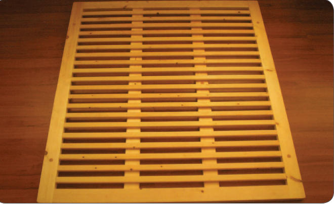 Rete in Legno Mod. Massello 140X190/195/200 100% Made in Italy