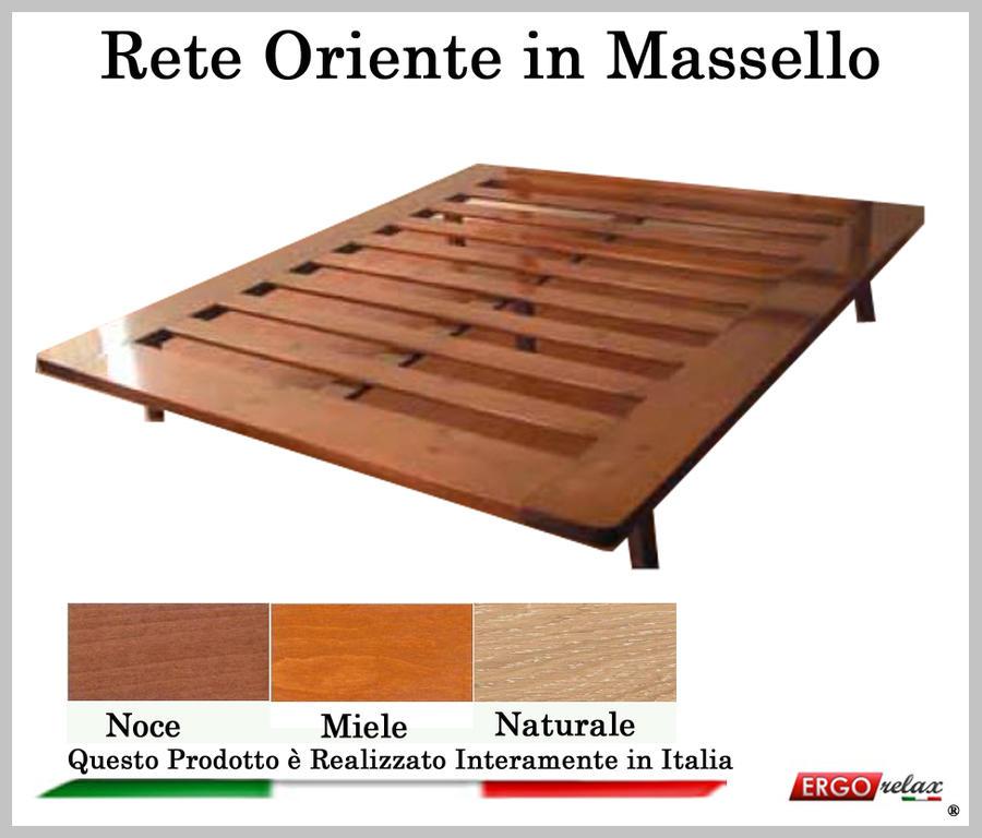 Rete in Legno Mod. Oriente 90X190/195/200 100% Made in Italy