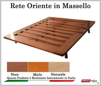 Rete in Legno Mod. Oriente 160X190/195/200 100% Made in Italy
