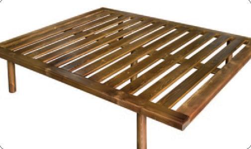 Rete in Legno Mod. Lusso 160X190/195/200 100% Made in Italy