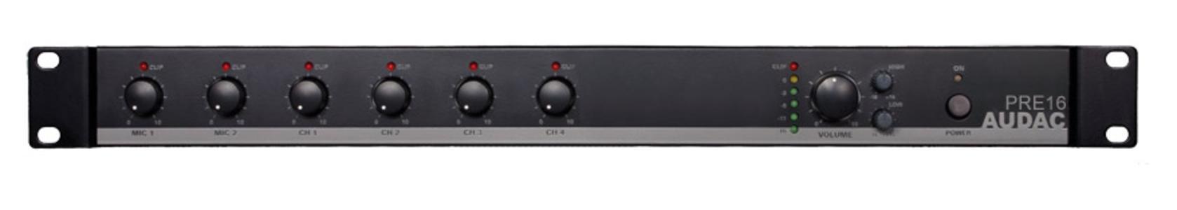 Audac PRE16 - mixer rack 6 ingressi