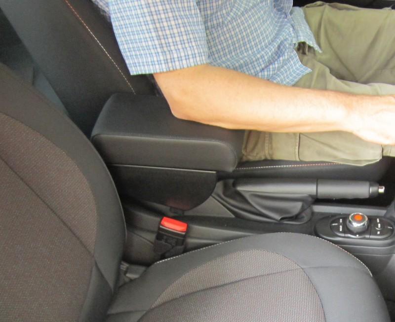 Adjustable armrest with storage for Mini (2014>) F56 / F57 - 3d generation