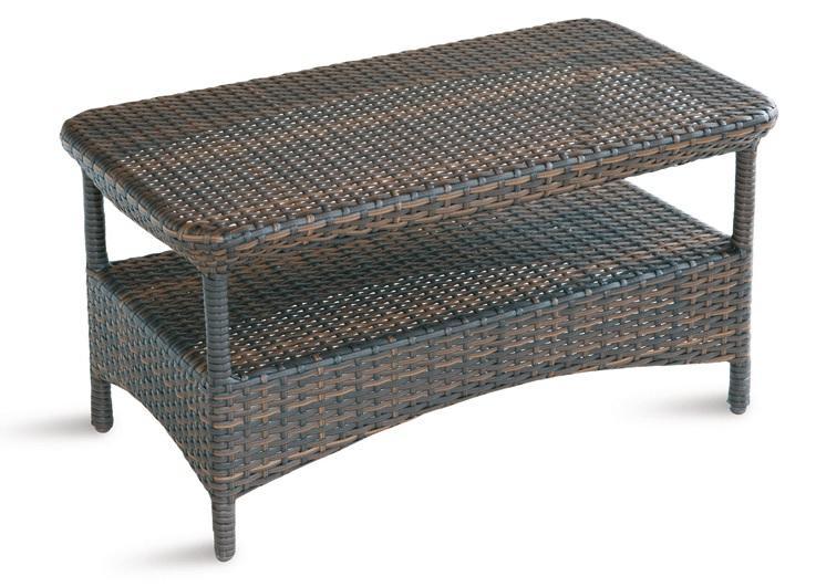 Tavolino ATLANTA in wicker moro tropical