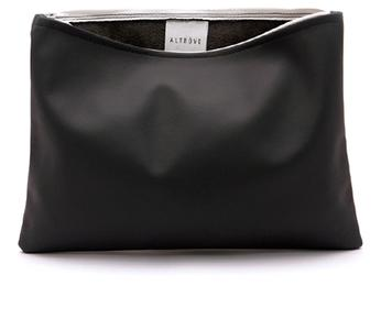 Bag - Clutch - iPad / Samsung / Tablet Cover - Case - IN BALCK GEUINE LEATHER