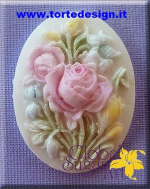 stampo silicone cammeo rose