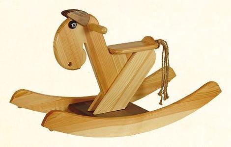 """Cavallo a Dondolo in Legno Naturale """"OMAR"""" di Janoschik"""