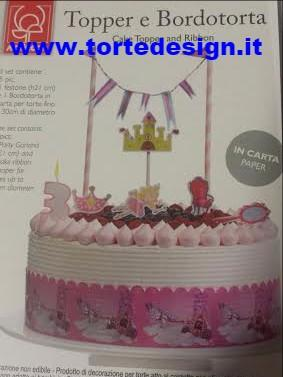 Kit decorazione torta principesse