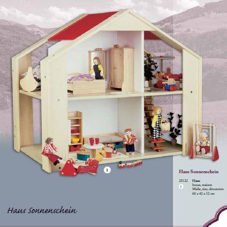 """Casa delle Bambole in Legno """"Luce del Sole"""" di Rulke Holzspielzeug"""