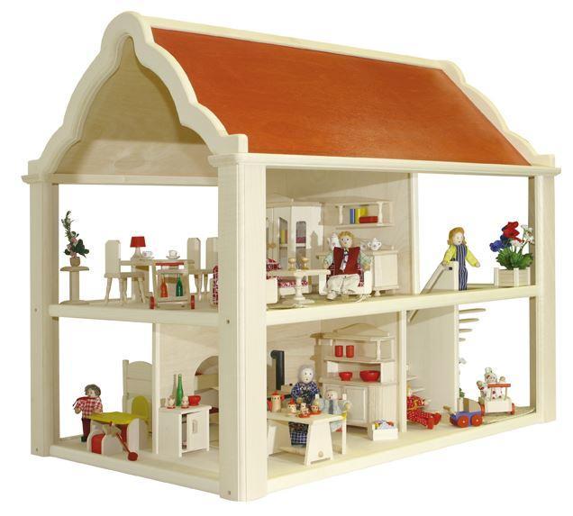 """Casa delle Bambole in Legno """"Romantica"""" di Rulke Holzspielzeug"""