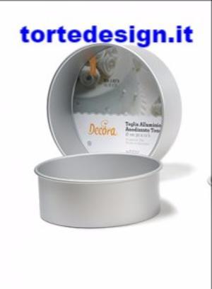 tortiera professionale anodizzata alta cm 10 alluminio, diametro 25