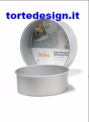 tortiera professionale anodizzata alta cm 10 alluminio, diametro 20