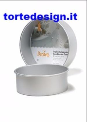 tortiera professionale anodizzata alta cm 10 alluminio, diametro 10