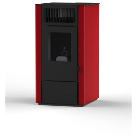 EVA CALOR - Stufa a Pellet Dora Potenza Termica Nominale 8 kW Colore Rosso