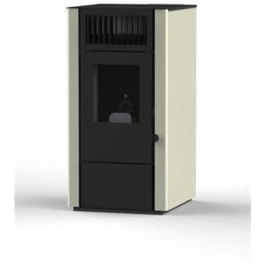 EVA CALOR - Stufa a Pellet DORA Potenza Termica Nominale 8 kW Colore AVORIO