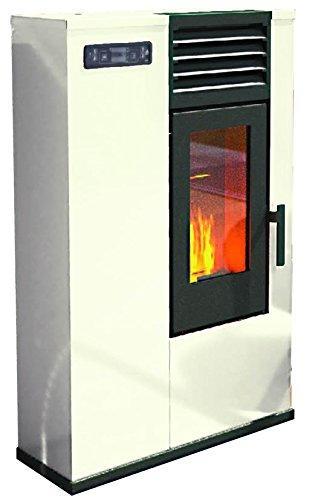 Stufa a pellet punto fuoco susy slim 7 5 kw colore avorio - Stufa a pellet canalizzata opinioni ...