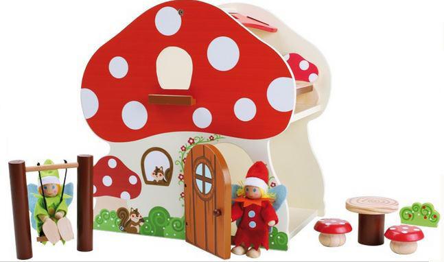 """Casa delle Bambole """"Gnometti del Bosco"""" in Legno per Bambini di Legler"""