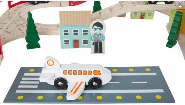 Set di Ferrovie in Legno da Costruire per Bambini di Legler