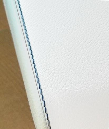 Mittelarmlehne für Smart (2014>) in Eco-Leder weiß