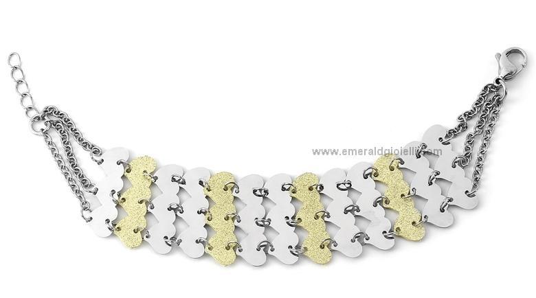 st3321 Bracciale Donna Acciaio e Oro Thiago gioielli