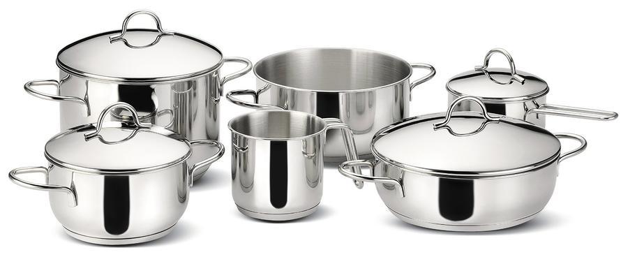 Lagostina set di pentole 10 pz gran cucina - Pentole per cucine a induzione ...