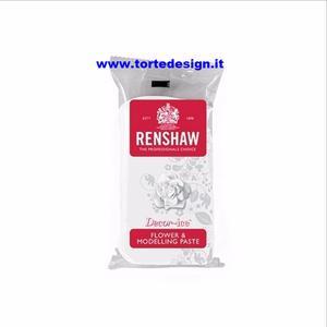 Pasta di zucchero  bianca Renshaw  specifica per fiori e modellaggio 250 gr