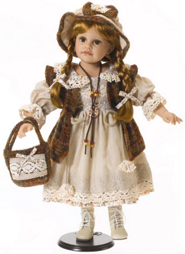 """Bambola da Collezione in Vinile  """"Adele`s Puppenhaus Collection"""", edizione limitata 999 pezzi Imke Bambina con Cardigan RF Collection Qualità Made in Germany"""