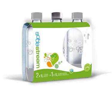 Ricambio bottiglie sodastream Promo pack 2 bottiglie + 1 omaggio in plastica da lt.1