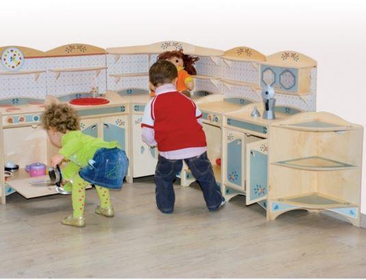 Mobiletto cucina in legno naturale per cucina for Cucina legno bambini amazon