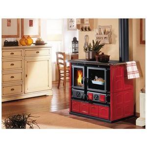 Cucina a Legna LA NORDICA ROSA Liberty Potenza Termica Nominale 6,5 kW 185 m3 Riscaldabili Colore Bordeaux