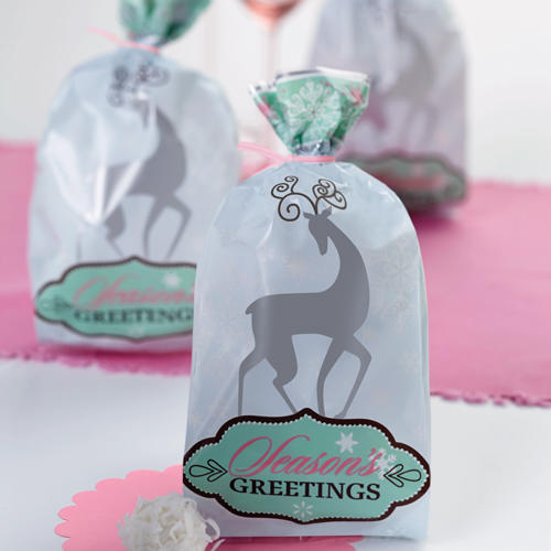 Set 20 sacchetti per dolcetti renna