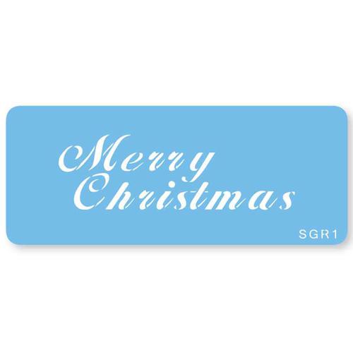Stencil Merry Christmas Jem