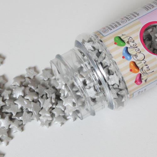 Decorazioni commestibili a forma di stella argento 60 gr