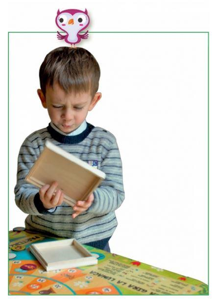 """Tavolo gioco Quadrato """"Gira Gira la Lumaca"""" per Bambini in Legno Naturale di Dida"""