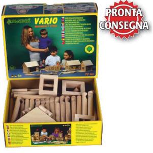Costruzioni in Legno Naturale per Bambini Kit da 72 pezzi Walachia - Offerta