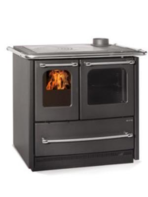 Stufa a cucina a legna La Nordica Extrafolame SOVRANA EASY colore ANTRACITE 6,5 kw in acciaio porcellanato