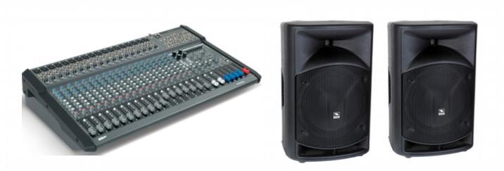 Proel KIT mixer amplificato M1500USB + n.2 casse passive WAVE15P