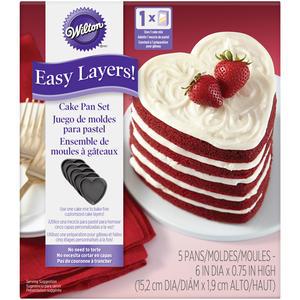 Set 5 teglie per torta arcobaleno cuore