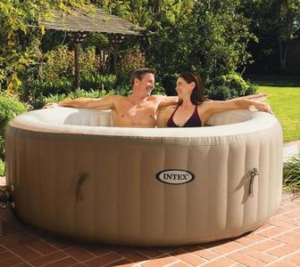 Piscina Idromassaggio 28408 Pure Spa Bubble Therapy con Pompa INTEX 28408 BUBBLE SPA 216 x 71 cm