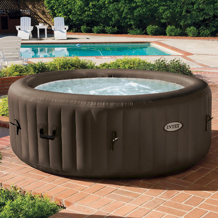 Piscina Idromassaggio 28422 4 posti Pure Spa Bubble Therapy  Jet Massage con Pompa INTEX 28422 BUBBLE SPA 196 x 71 cm