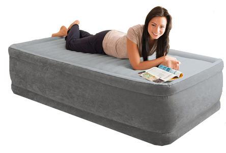 Materasso Intex 64412  Singolo Gonfiabile Letto Campeggio Air Bed Ospiti con Pompa Materasso gonfiabile Intex 64412 letto singolo campeggio 99x191x46