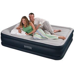 Materasso gonfiabile intex matrimoniale 152x203x43cm con pompa elettrica intex 67738 queen letto materasso