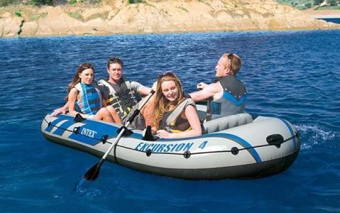 Gommone Canotto Gonfiabile INTEX 68324 EXCURSION 4 Set Mare Pesca Lago Fiume 315 x 165 x 43 cm
